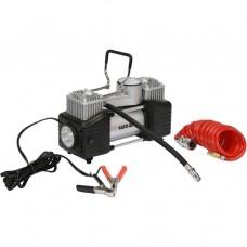 Elektriskais gaisa kompresors ar dubulto cilindru 12V 60 l/min YT73462