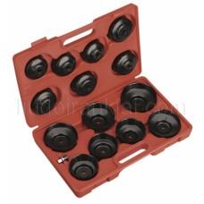 Eļļas filtru vāciņu, atslēgu komplekts 15gab. AT1104
