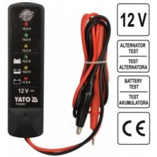 Digitālais akumulatoru un ģeneratoru testeris 12V (mini) YT83101