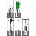 Nolauztu skrūvju izskrūvēšanas komplekts un HSS urbji 11vien. CL709911